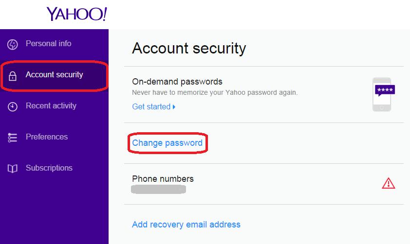 Change Yahoo Password   Yahoo Mail Change Password on Desktop and Mobile