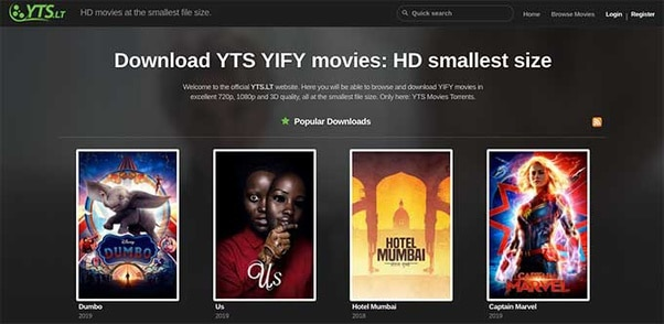 YTS Movies – Download YTS YIFY Movies Online | YTS Torrent Download