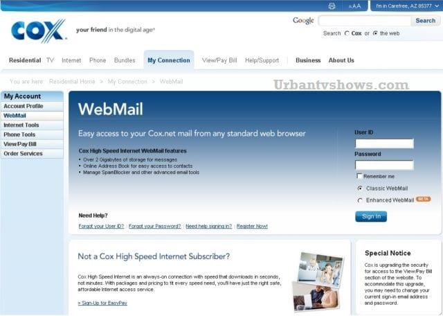 Cox Webmail Login - How to Sign in to Cox Communications Webmail