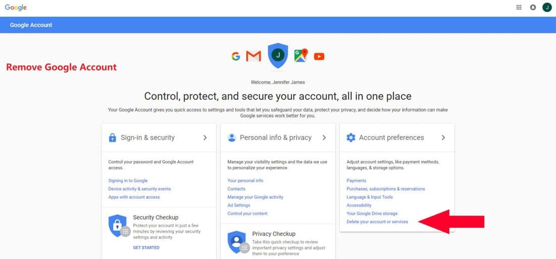 How to Remove Google Account - How to Delete a Google Email Account